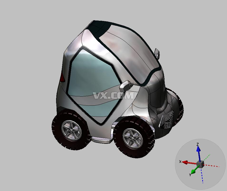 新型电动车_stl_交通工具_3d模型_图纸下载_微小网