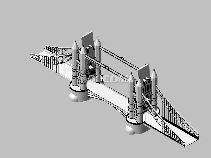 伦敦大桥_中望3d_幕墙路桥/隧道/桥梁