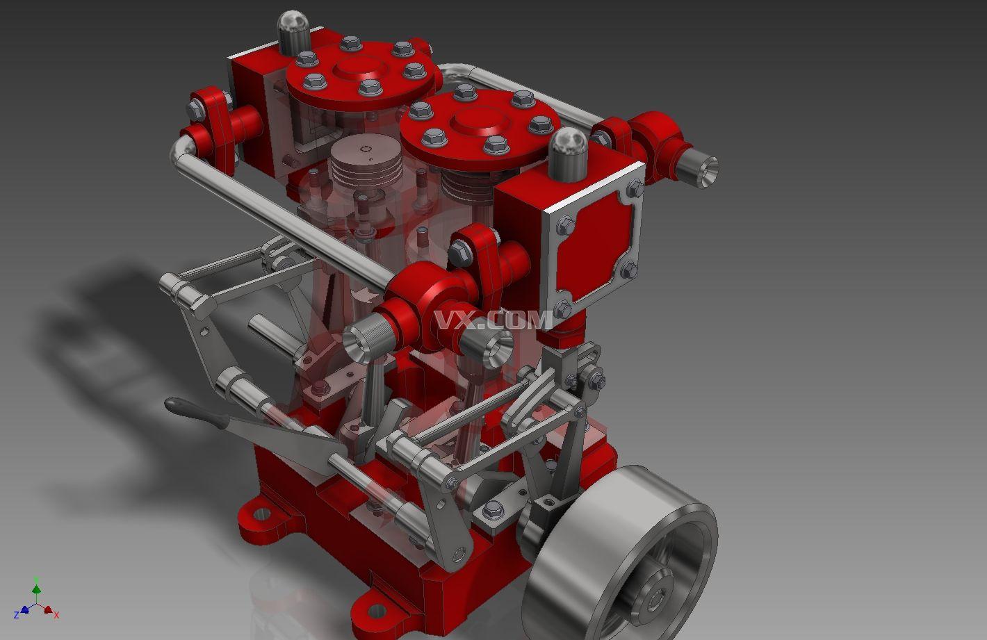 蒸汽发动机_inventor_机械设备