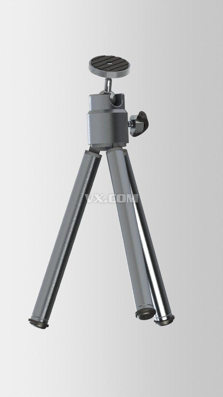 相机三脚架_solidworks_创意设计_3d模型_图纸下载