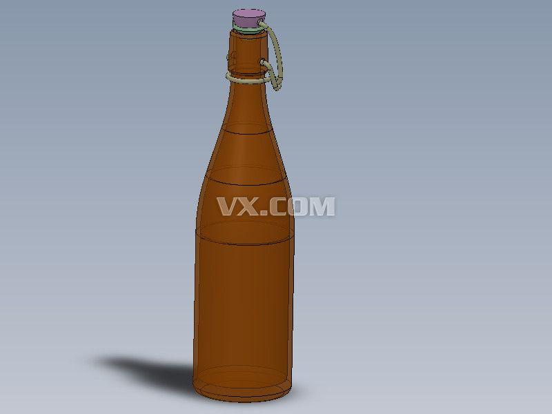 玻璃瓶_solidworks_创意设计