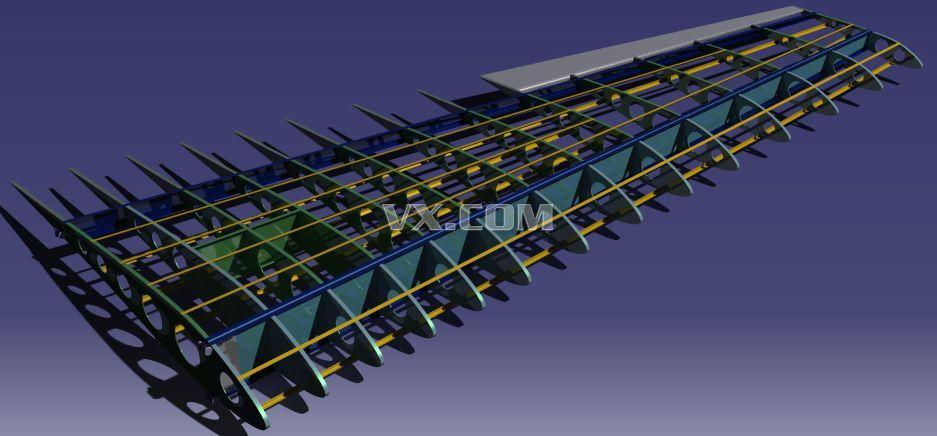 catia设计的飞机机翼