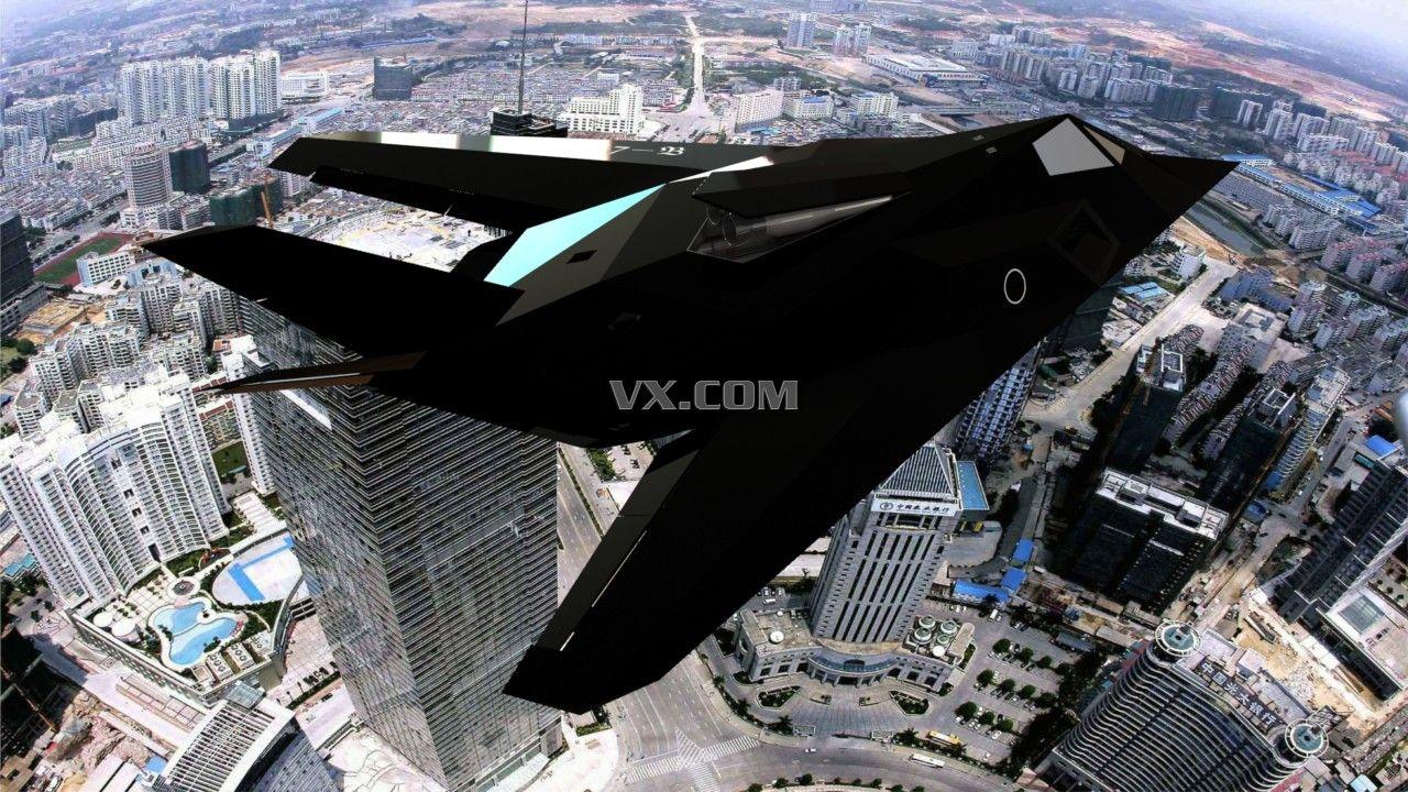 f117隐形飞机_solidworks_航天航空_3d模型_图纸下载