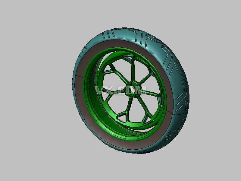 电动车车轮_step/stp_机械设备
