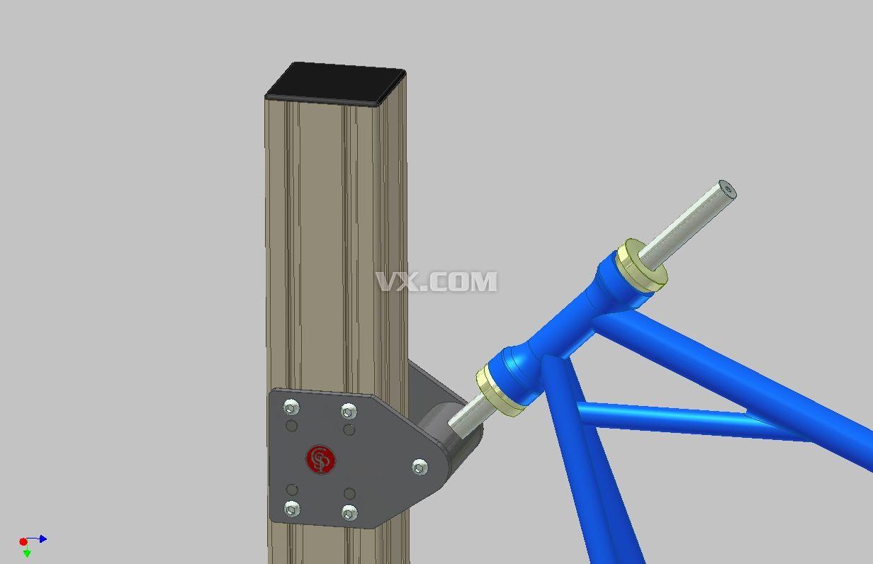 摩托车框架_step/stp_机械设备