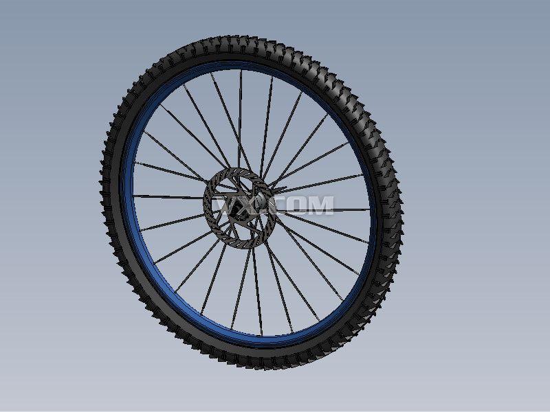 自行车车轮_solidworks