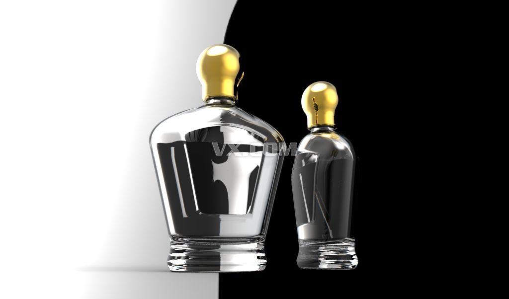 香水瓶_stl_包装_3d模型_图纸下载_微小网