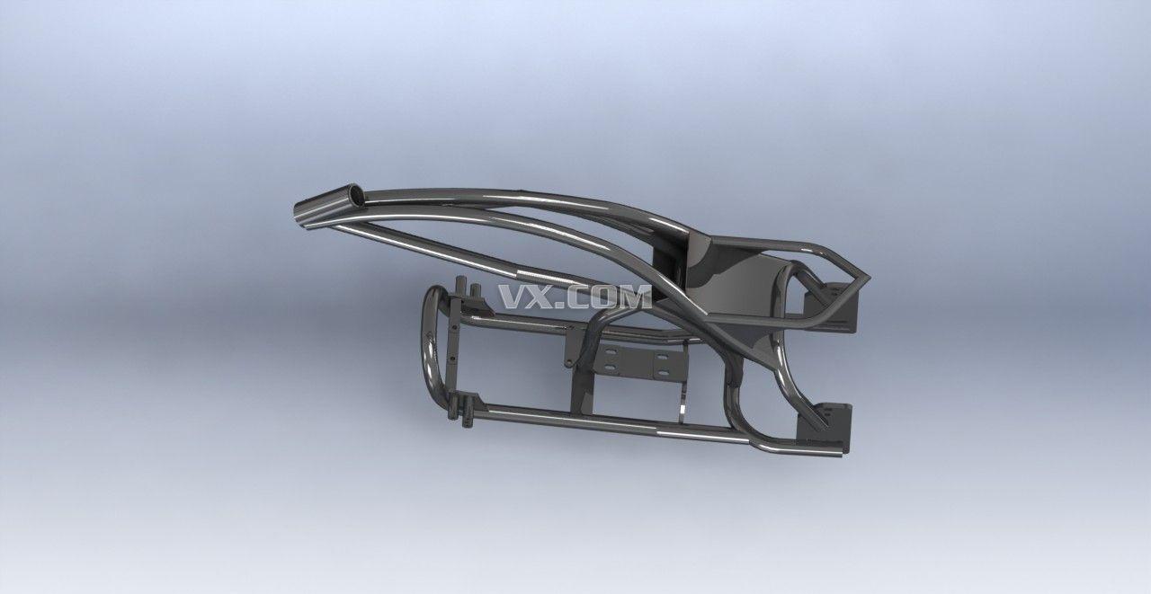 基于中望3d的三维cad设计-三轮车骨架体