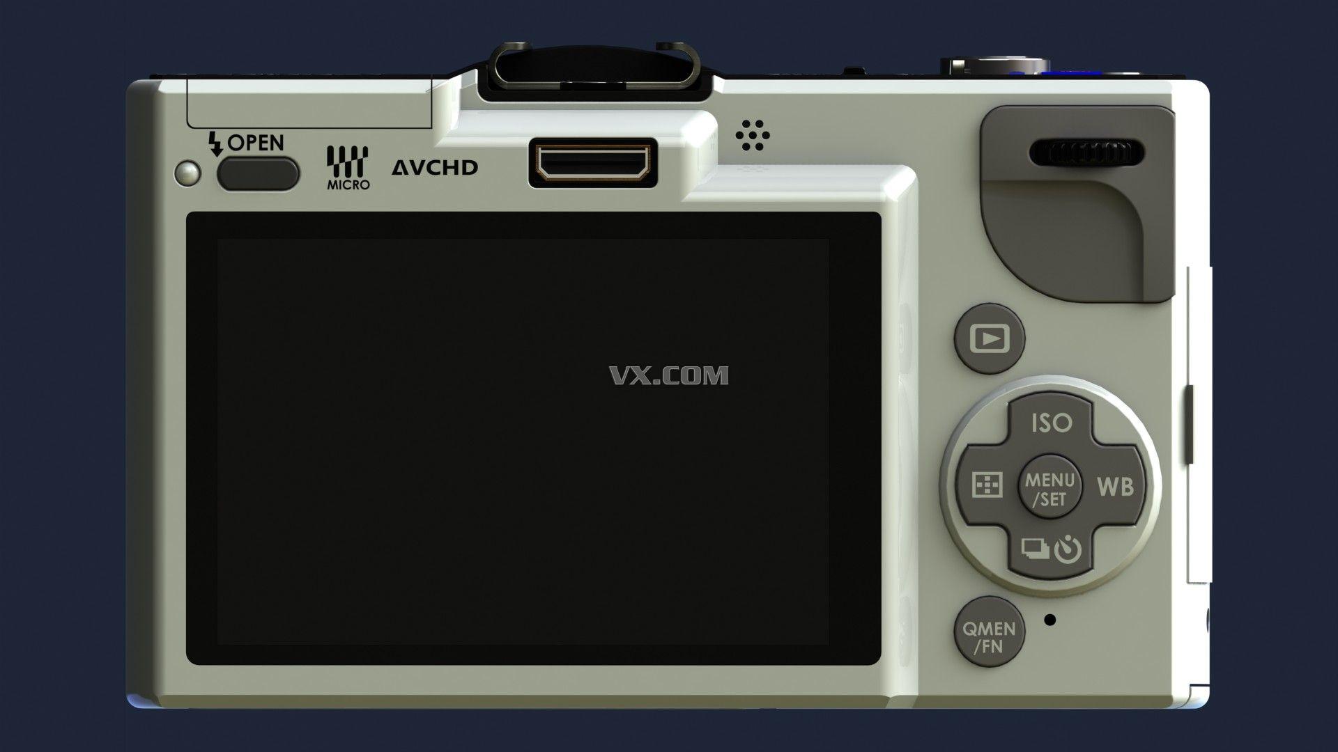 数码相机_solidworks_数码电子_3d模型_图纸下载_微小