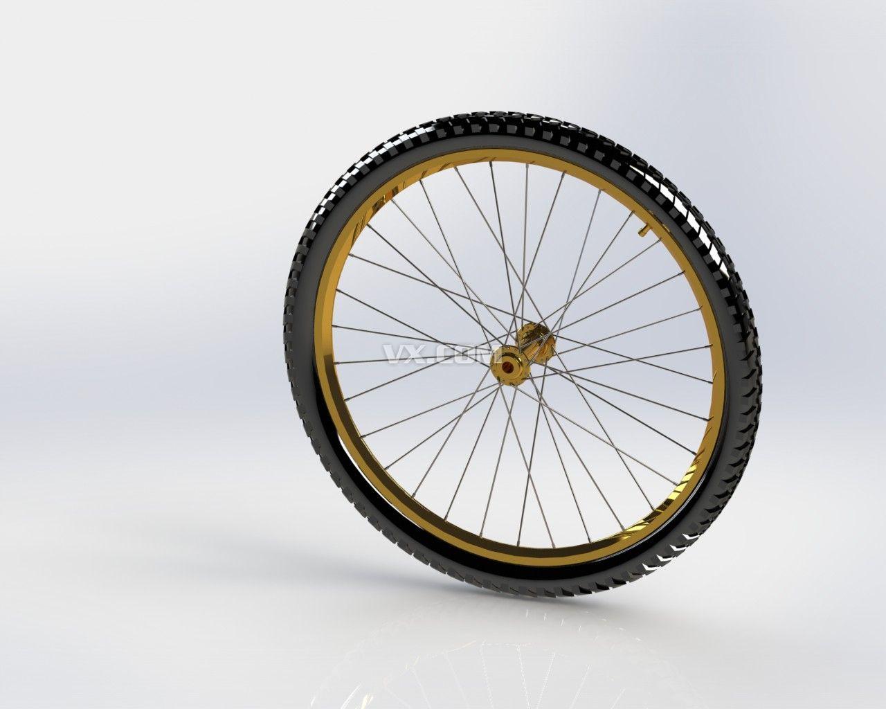 自行车车轮_stl_交通工具