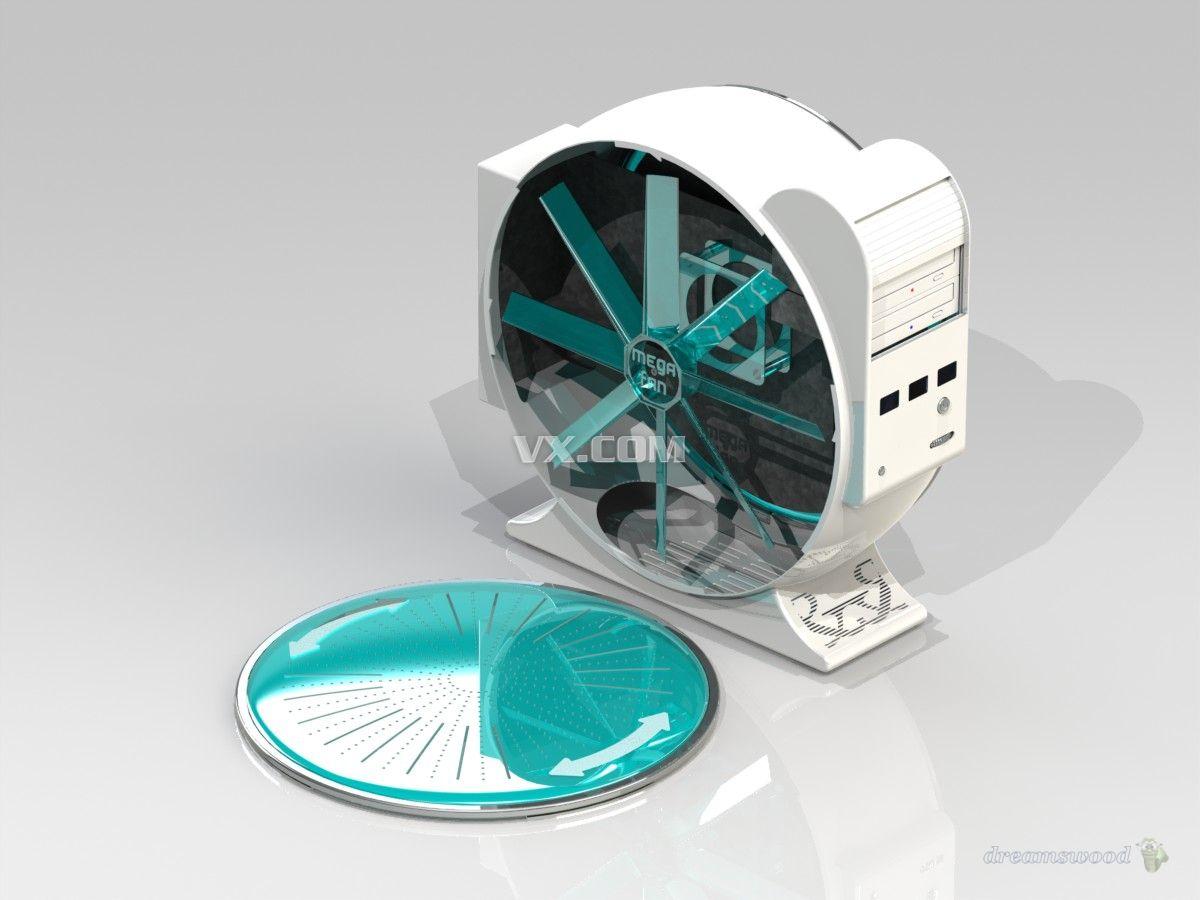 电脑机箱_SolidWorks_数码电子_3D模型_图纸下载_微小网