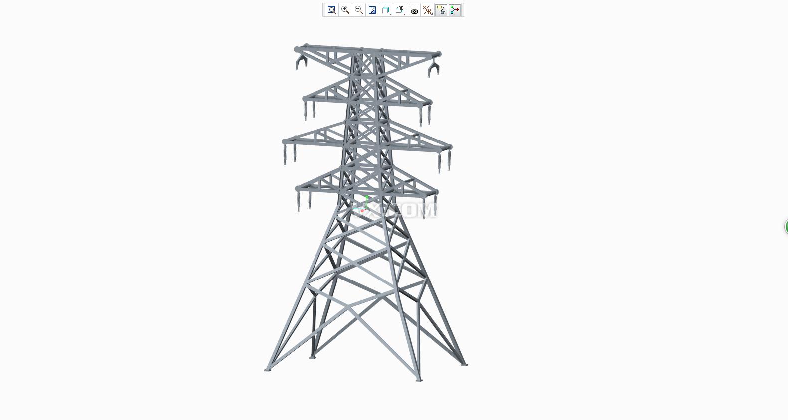 电力铁塔三维图纸3d图纸stp格式
