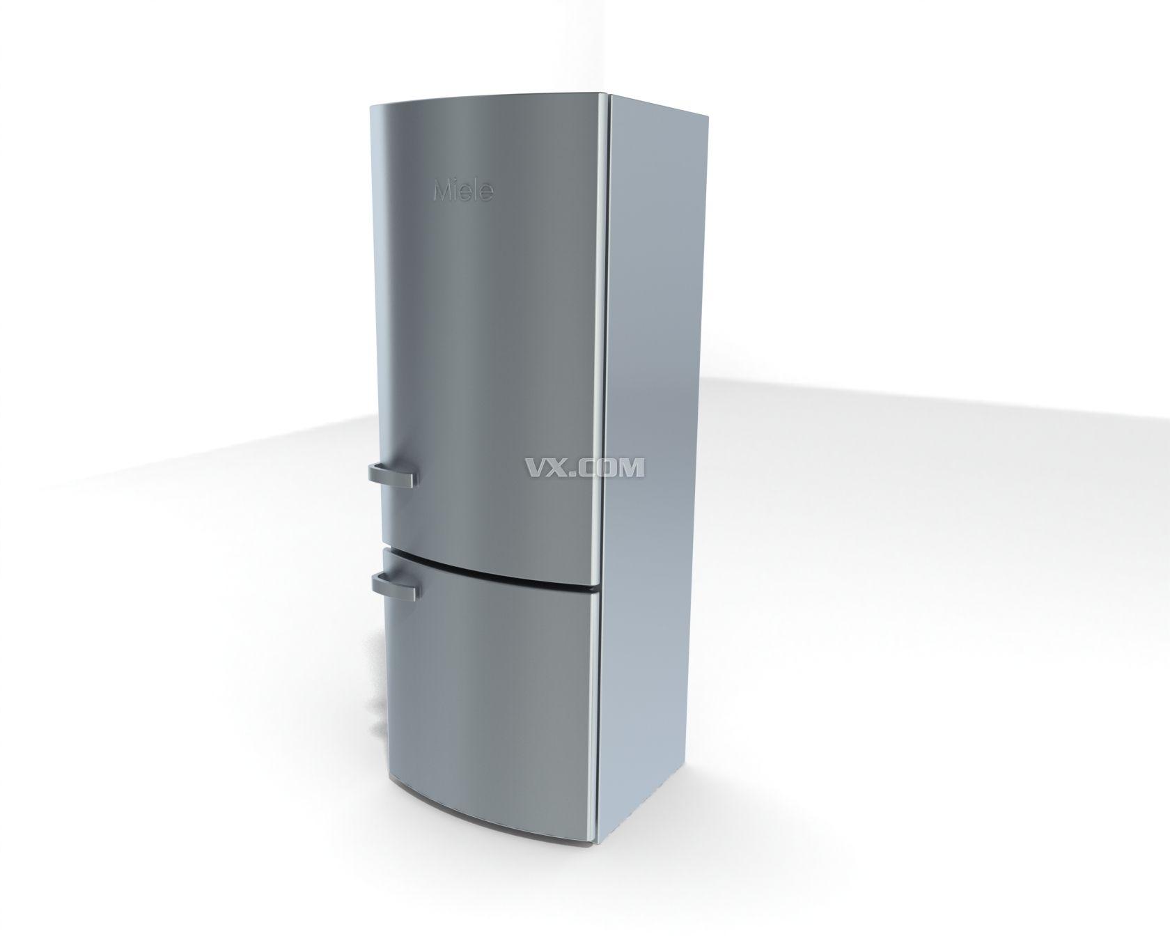 电冰箱_rendering_家用电器_3d模型_图纸下载_微小网
